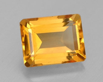 8 x 6 Emerald Cut Citrine