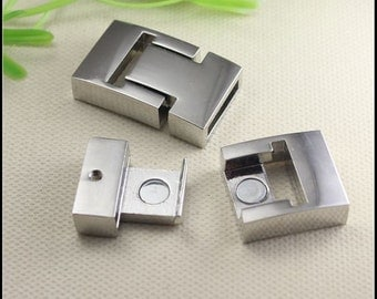 5 Sets New Style Antique Silver plated Strong Magnetic Clasps for making Leather Bracelet jewelry findings