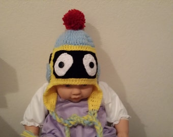 Crochey baby robot hat