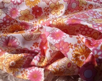 Floral Cotton Fabric by the Yard, Cute Cotton Fabric, Fabric by the Yard, Cotton Yardage