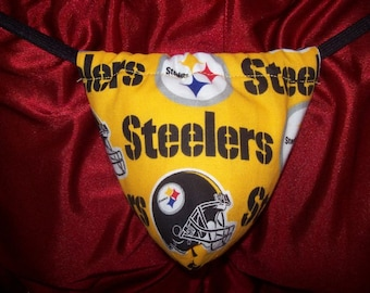 Mens Yellow PITTSBURGH STEELERS  G-String Thong Male Nfl Lingerie Football Underwear