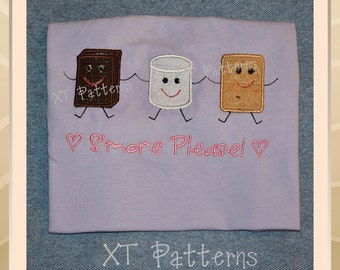 Pattern S'mores Applique Embroidery