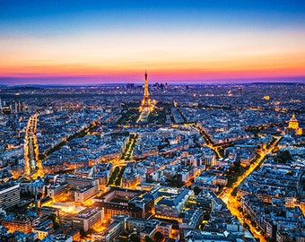 France - Paris - Aerial view at sunset - SKU 0075