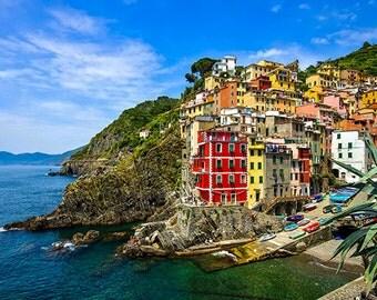 Italy - Cinque Terre - View Riomaggiore - SKU 0115