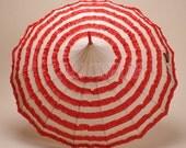 Red Ruffle Rain Umbrella, Red Pagoda Umbrella, Wedding Umbrella Parasol, Waterproof Umbrella, Vintage Umbrella, Decoration Umbrella BTS12A-1
