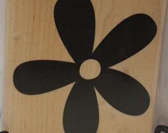 Stampin' Up! Retired Big Blossom wood mounted