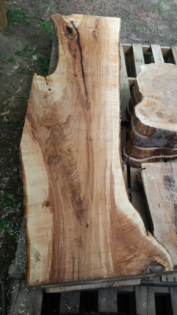 Figured Silver Maple Live Edge Slab Wood Walnut Cherry