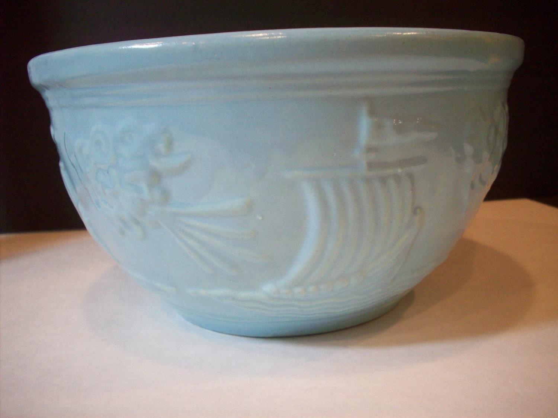 Vintage Mid Century Robinson Ransbottom Pottery Mixing Bowl
