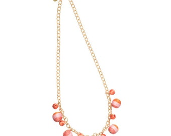 Twine Striped Rounds Necklace