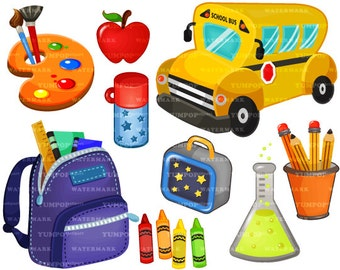 Back-to-School clipart, School clipart, Educational clipart, Teaching clipart, Books clipart, Science clipart, Chalkboard clipart
