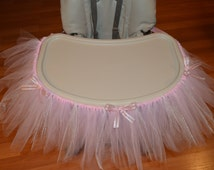 Shabby Chic High Chair Tutu or Wall Banner fit for a Princess 1st Birthday, Christening, Ballet Theme