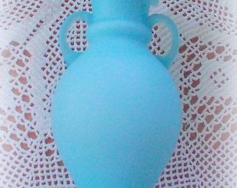 Vintage Blue Satin Vase