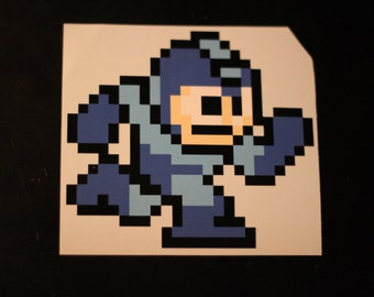 8 Bit Mega Man Sticker Decal