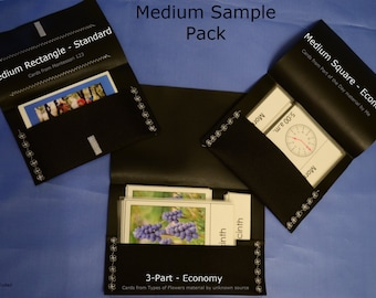 Montessori Card Pouch Sample packs_many sizes & 2 versions