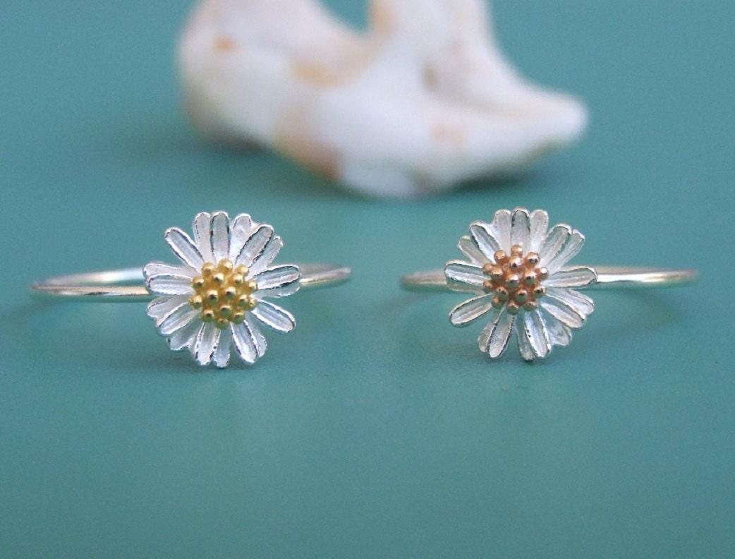 Sterling Silver Ring Silver Flower Ring Silver Daisy Ring