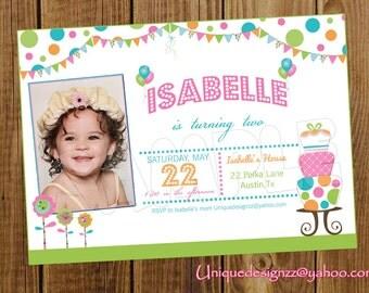 Birthday Cake Birthday Invitation