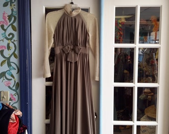 Taupe 1970 maxi dress!!