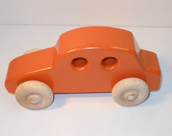 Toy Wooden Car Four Door Sedan