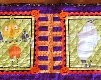 Halloween Witch,Haunted House, Ghost etc Quilted Wall Hanging
