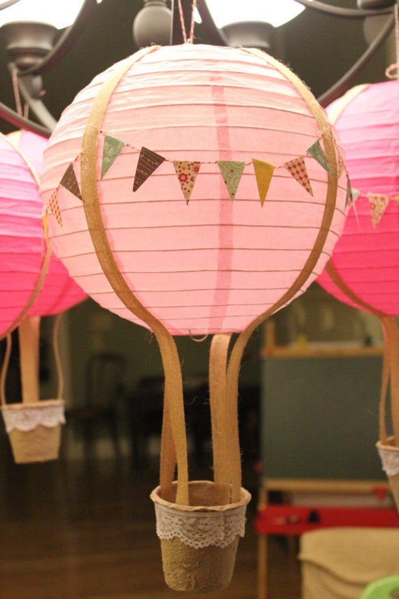 Items Similar To Custom Paper Lantern Hot Air Balloon. On Etsy