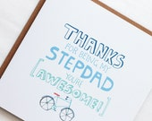Thanks For Being My Stepdad - You're Awesome! Greeting Card