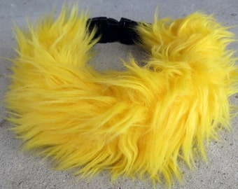 Fluffy Faux Fur Collar - YELLOW