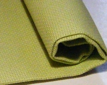 Zweigart 18 count Aida Fabric, colour Spring Green, reference no 6140, size 37.5 x 45 cm.  Use for cross stitch and other embroidery.
