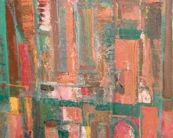 Abstract avant garde art oil painting signed