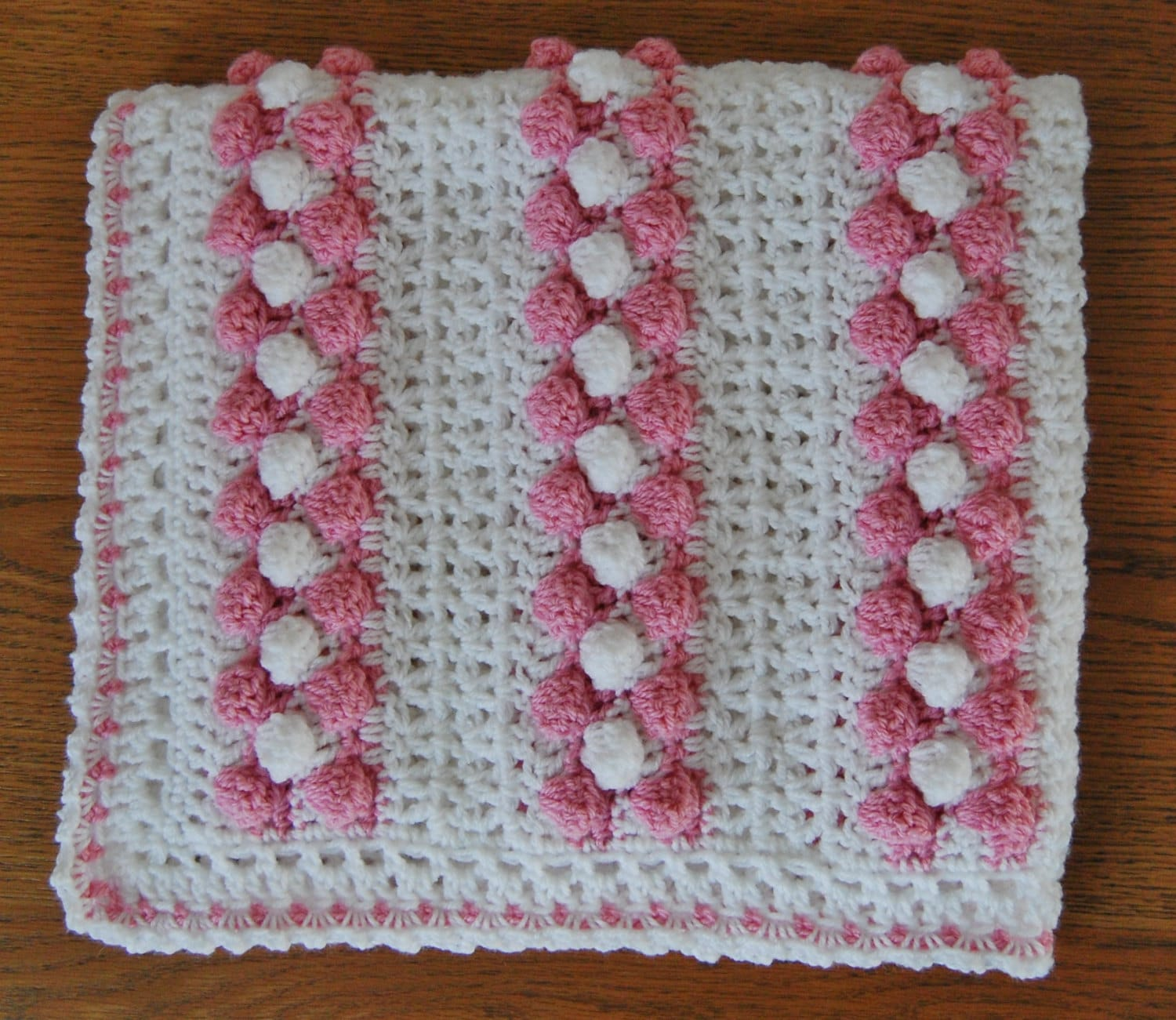 Baby crochet bobble v stitch blanket afghan pattern for pram this is a digital file bankloansurffo Choice Image