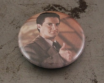 "Agent Cooper - Thumbs Up - 1"" Button"