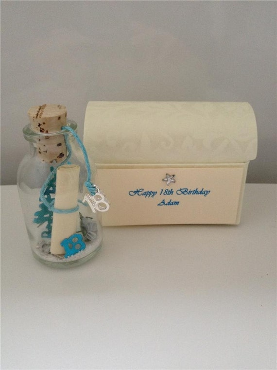Personalised 18 Birthday Boy Or Girl Message In A Bottle