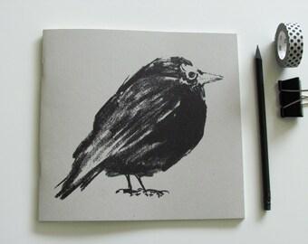 Notebook * beautiful fat little bird *  sketchbook drawing book Print bird