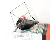 Cube Planter, Geometric Terrarium, Gifts for Him, Succulent Planter, Stained Glass Terrarium, Boyfriend Gift, Modern Planter, Air Plant Pot