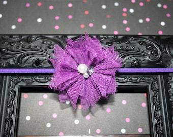 "Newborn purple headband (13""), newborn headband, purple headband"