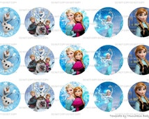 INSTANT DOWNLOAD Frozen 4x6 Bottle Cap Images Digital Collage Sheet for bottlecaps hair bows bottlecap images