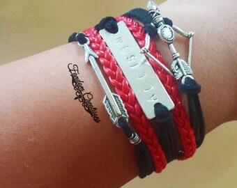 Allison Argent Teen Wolf Leather Wax Cord Bracelet