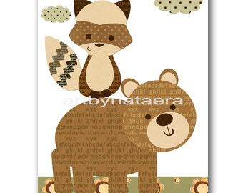 INSTANT DOWNLOAD Art Baby Nursery Decor Bear Nursery Digital Print Baby Boy Nursery Decor Printable Wall Art Digital Download Art 8x10 11X14