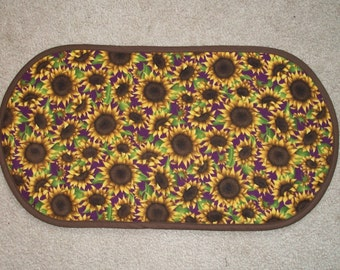 Sunflower Table Runner Placemat Centerpiece 12 3/4 x 24