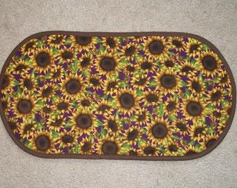 Sunflower Table Runner Placemat Centerpiece 12 3/4 x 24