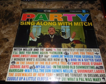 Mitch Miller - Party Sing Along With Mitch - Vinyl Record - Free US Shipping