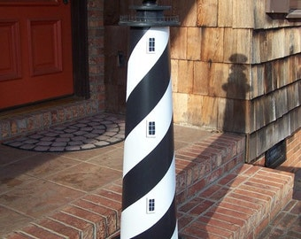 Cape Hatteras Lighthouse Solar Decorative Lawn and Garden Ornament – 45 inches