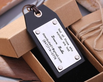 Leather Luggage Tags - Personalized Hand made Luggage Tags - Perfect Gift for Birthday, Wedding or Anniversary