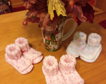 Baby booties, length is 4 inches, prices listed per pair