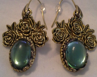 Vintage Designed Roses and Cabochons = E156