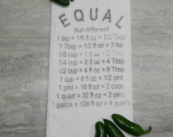 Equal -Flour Sack Tea Towel