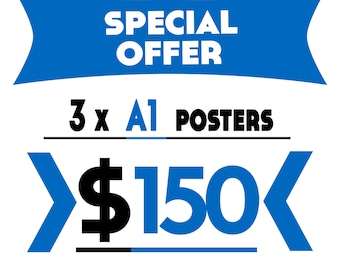 Buy 3 A1 Prints for 150 USD (Save 60 USD)