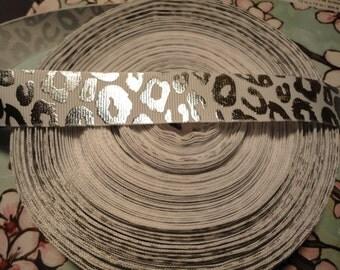 Leopard Animal Print Grosgrain Ribbon