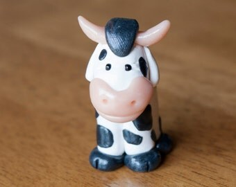 Little Cow Clay Figure
