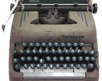 Smith Corona Silent Super Vintage Typewriter
