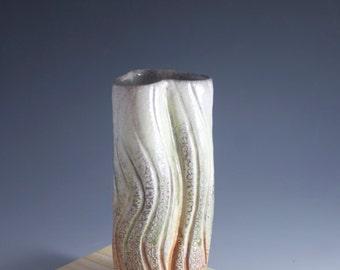 Soda Fired Vase-Whimical Shape